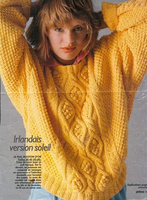 modele tricot irlandais femme gratuit