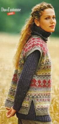 modele tricot jacquard femme gratuit